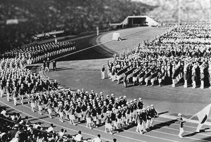 图文:1964年东京奥运会 东京奥林匹克主体育场