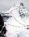 罗布森山凯恩岩壁路线图