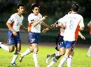 图文:[亚冠]越南隆安VS山东鲁能 大羽进球庆祝