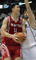 图文:[NBA]火箭不敌爵士 姚明准备上篮