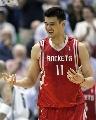 图文:[NBA]火箭不敌爵士 姚明在比赛中