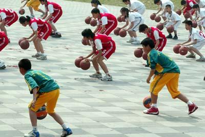 """北京""""阳光体育运动""""现场。 来源:CFP"""