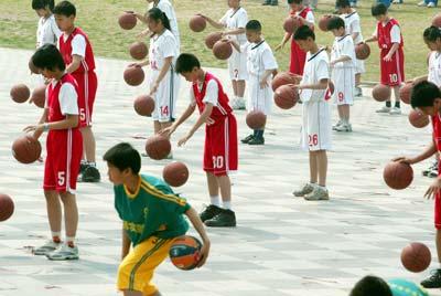 """北京""""阳光体育运动""""在朝阳公园启动。 来源:CFP"""