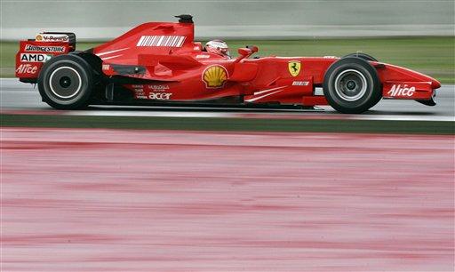 图文:[F1]西班牙测试 法拉利带来多项空力组件