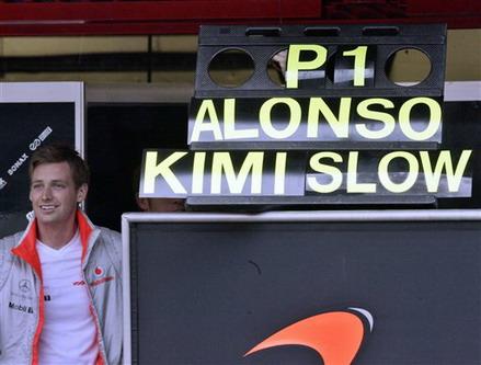 图文:[F1]西班牙测试 迈凯轮工程师喜欢开玩笑
