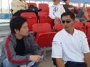 图文:沙排上海公开赛首日 对话男队主帅颜建明