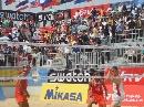 图文:沙排上海公开赛首日 挪威队重扣得手