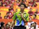 图文:男乒厦门热身 黑马李平比赛中庆祝得分