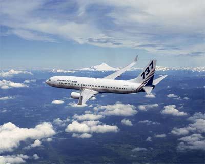 资料图片:波音737-800型客机