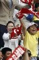 图文:[中超]青岛3-1北京 狂热青岛球迷