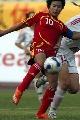 图文:[女足]中国2-1再胜加拿大 韩端起脚射门