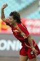 图文:[女足]中国2-1再胜加拿大 季婷庆祝进球