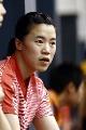 图文:国乒女队备战世乒赛最后冲刺 王楠在训练