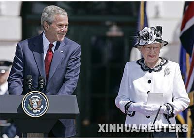 首都华盛顿的白宫南草坪欢迎仪式