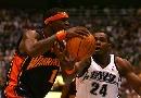 NBA图:[NBA]爵士vs勇士 斯蒂芬-杰克逊强行上篮