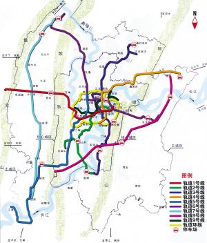 重庆市主城行政地图