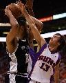 图文[NBA]:马刺VS太阳 纳什封盖邓肯