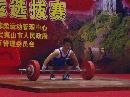 图文:男举奥运选拔赛60kg级 毛角在比赛中