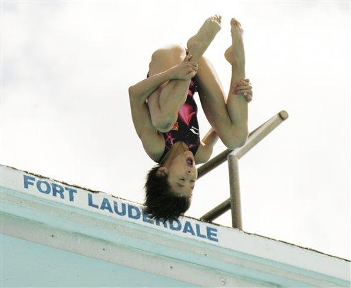 图文:美国跳水大奖赛第一天 小将王鑫实力出众