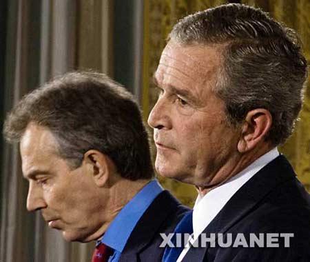 布什和布莱尔公开承认伊战犯错