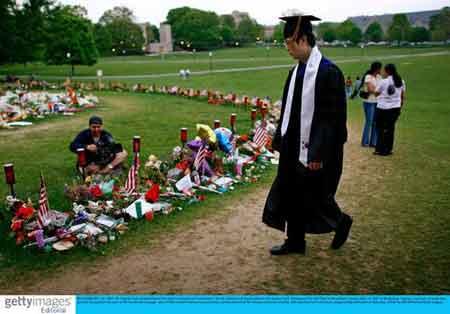 一名即将毕业的弗大学生悼念枪击案遇难者