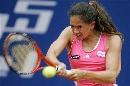 图文:WTA柏林公开赛第四日 施耐德反手回球