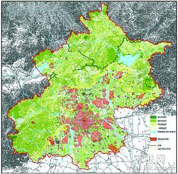 北京市市域建设限制性分区图