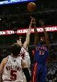 图文:[NBA]活塞胜公牛 汉密尔顿投篮