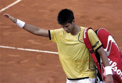 图文:罗马网球公开赛第五日 德约科维奇挥别