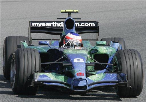 图文:[F1]西班牙站练习 本田的春天还没有到来