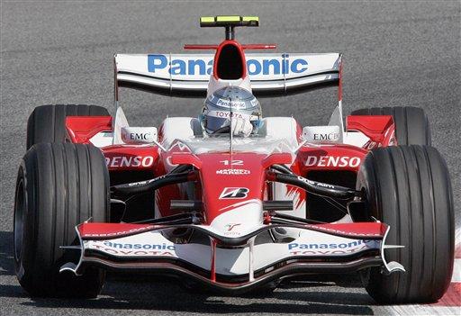 图文:[F1]西班牙站练习 特鲁利就想在拿点积分
