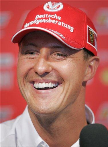 图文:[F1]西班牙站练习 舒马赫生活事业两丰收