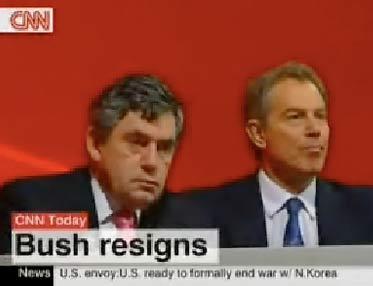 """CNN节目误报""""布什""""辞职"""