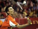 图文:印尼羽球赛击败鲍春来夺冠 李宗伟比赛中