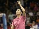 图文:印尼羽毛球超级系列赛 王晨得分后庆祝