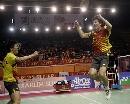 图文:印尼羽毛球超级系列赛夺冠 蔡�S跃起欢呼