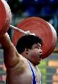 图文:全国男子举重锦标赛 韩文亮在比赛中