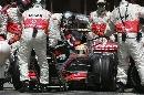图文:[F1]西班牙站正赛 车队换胎用时6.7秒