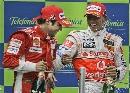 图文:[F1]西班牙站正赛 这两位各有幸福感觉