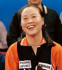 图文:张怡宁世乒赛对手 警惕海外兵团--李娇
