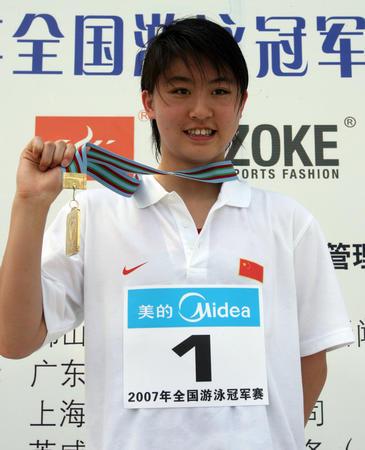 图文:全国游泳冠军赛次日 焦刘洋百米蝶泳折桂