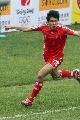 图文:[国奥]中国2-1乌拉圭 朱挺狂奔庆祝
