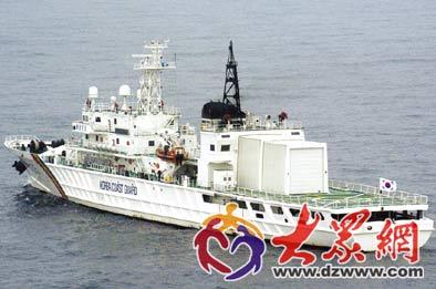 经中方同意 韩船舶抵达划定区域参与搜救
