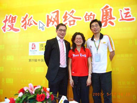 图文:第二十届体博会开幕 安踏营销总监访搜狐