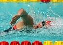 图文:上海女队夺4X100米接力金牌 庞佳颖比赛