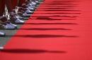 图文:[F1]西班牙大奖赛美女 地毯上的靓影