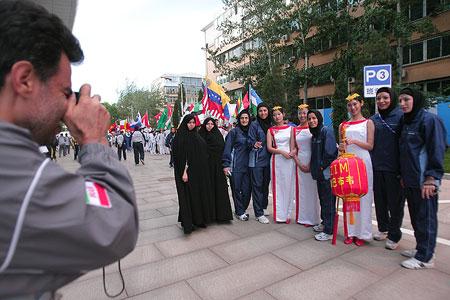 图文:跆拳道世锦赛即将开幕 热情的伊朗选手