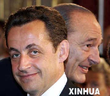 法国新总统萨科齐。来源:新华网