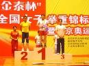 图文:全国女子举重锦标赛 邱红霞获得冠军