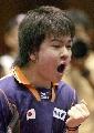 图文:世乒赛日本队全体队员 男单选手岸川圣也